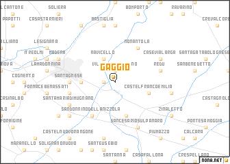 map of Gaggio