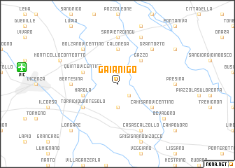map of Gaianigo