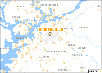 map of Gainesville