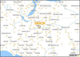 map of Gainza