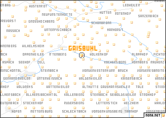 map of Gaisbühl