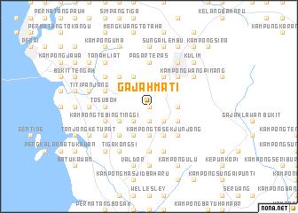 map of Gajah Mati