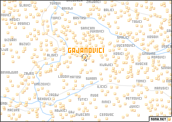 map of Gajanovići