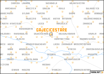 map of Gajęcice Stare