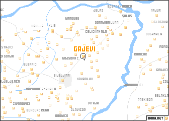 map of Gajevi