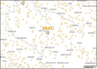 map of Gajići