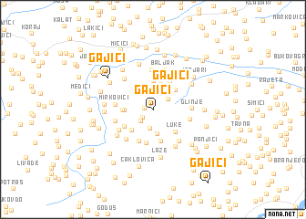 map of Gajići