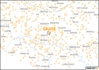 map of Gajine