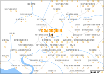 map of Gã Joaquim