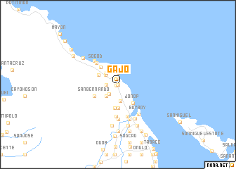map of Gajo