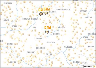 map of Gaj