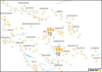 map of Gaj