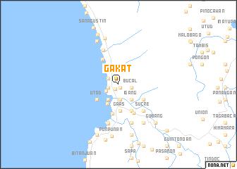 map of Gakat