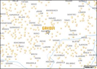 map of Gakovi