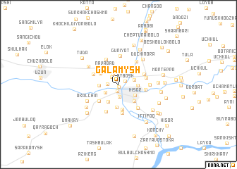 map of Galamysh