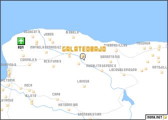 map of Galateo Bajo