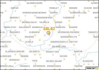 map of Galaz