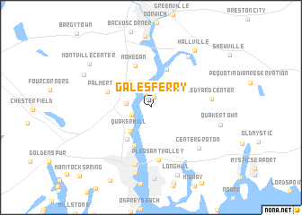 map of Gales Ferry