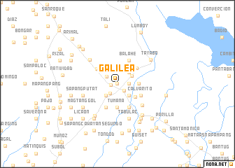 map of Galilea