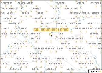 map of Gałkówek Kolonia