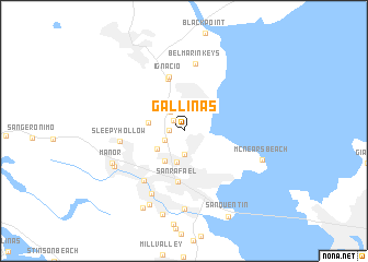 map of Gallinas