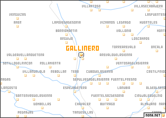 map of Gallinero
