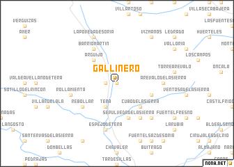 map of Gallinero