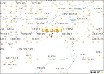 map of Gallizien