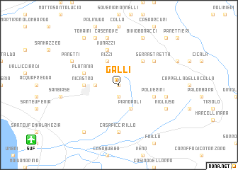 map of Galli