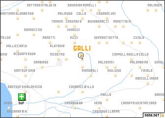 map of Galli