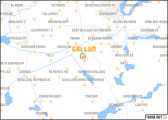 map of Gallun