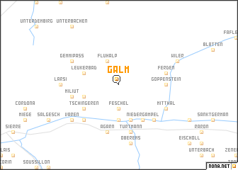 map of Galm