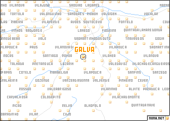 map of Galvã