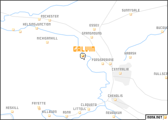map of Galvin