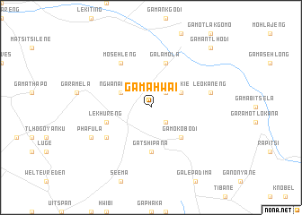 map of Ga-Mahwai