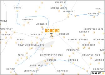 map of Gamovo