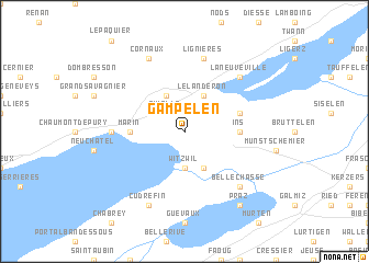 map of Gampelen