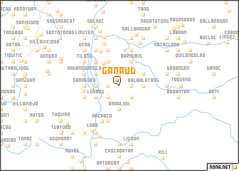 map of Ganaud