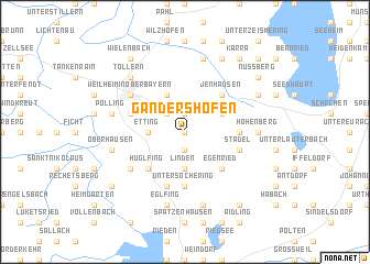 map of Gandershofen