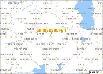 map of Gandershofen