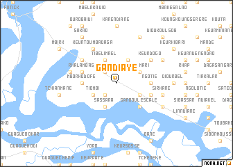 Gandiaye Senegal map nonanet