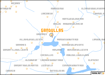 map of Gandullas