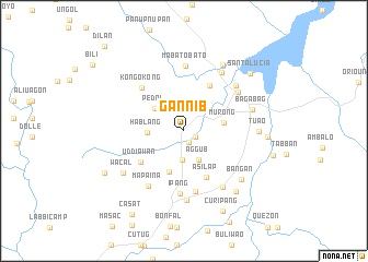 map of Gannib