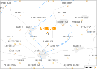 map of Ganovka