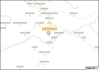 map of Ganwoki