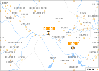 map of Gapon