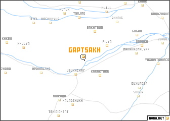 map of Gaptsakh