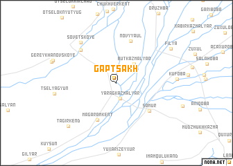map of Gaptsakh