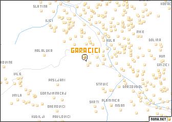 map of Garačići