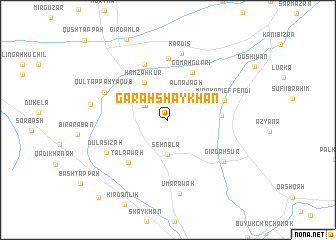map of Garah Shaykhān